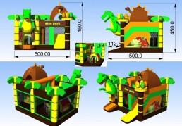Dino Park springkasteel